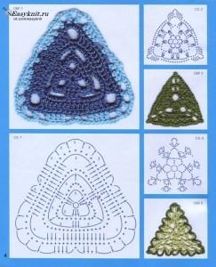 треугольные мотивы крючком