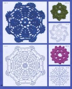 восьмиугольный мотив крючком