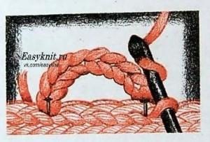 петля обвязанная крючком