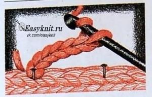 петля обвязаная крючком