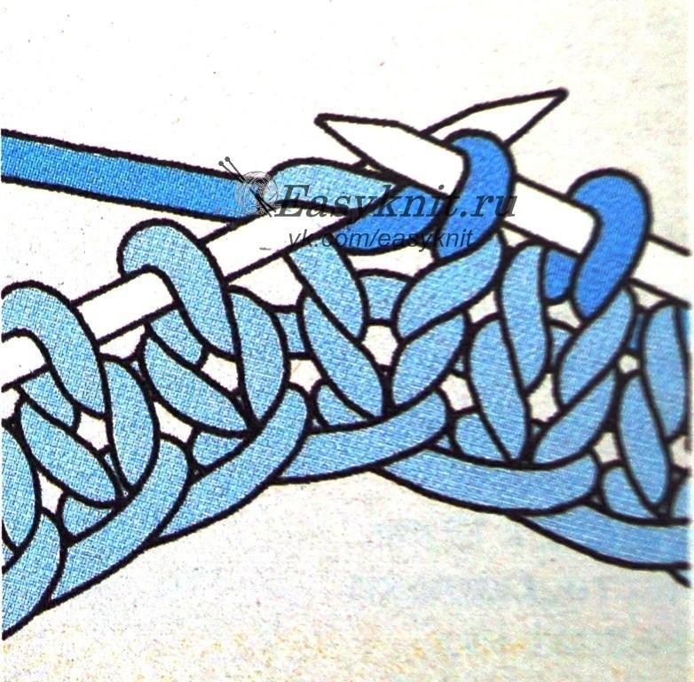 Вязание петля в петлю видео