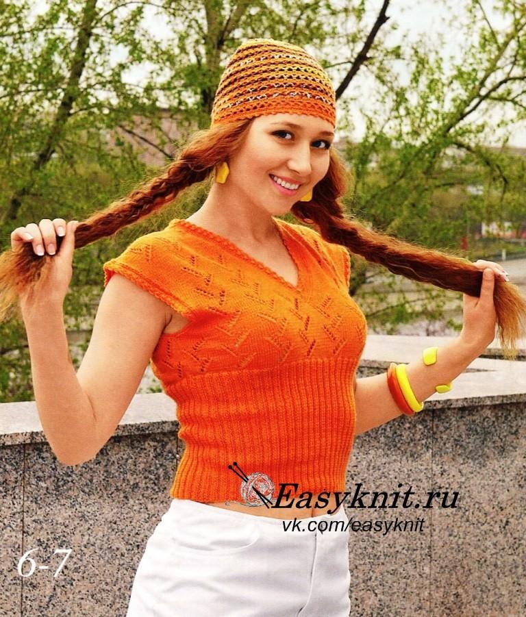 оранжевый топ фото