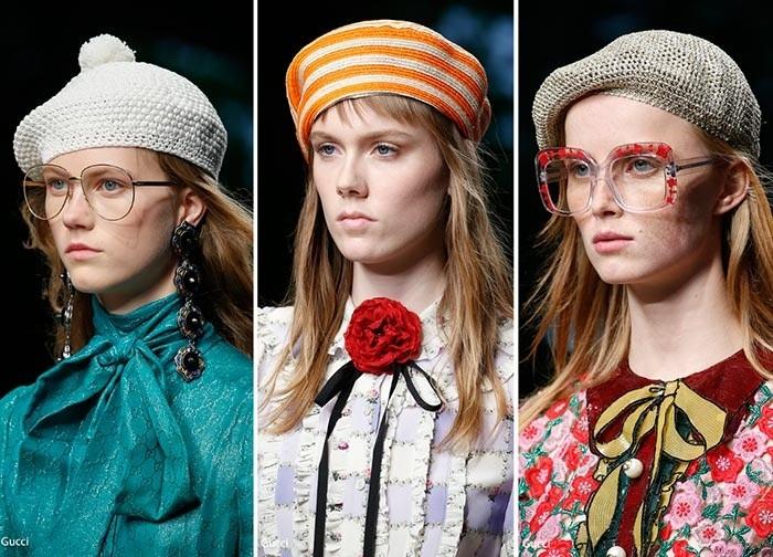 модные вязаные береты 2017