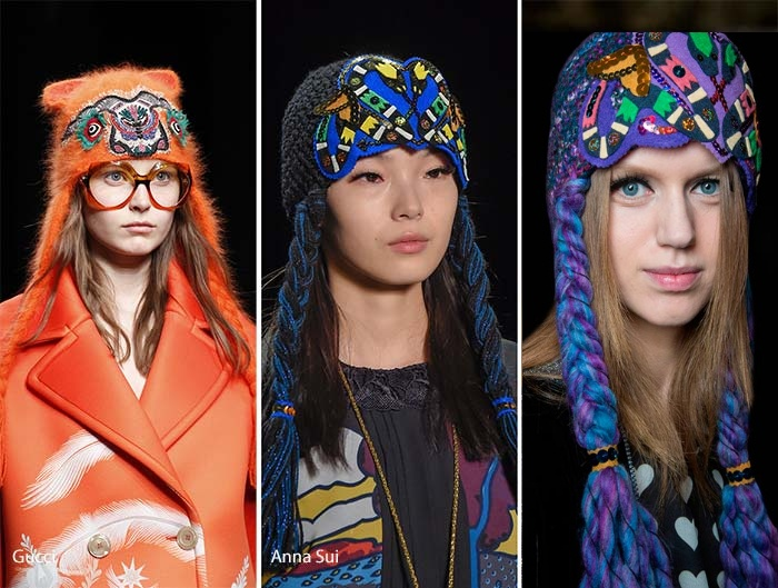 модные шапки с завязками 2017