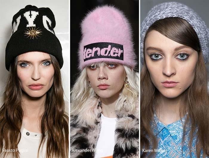 уличные стиль вязаные шапки 2018