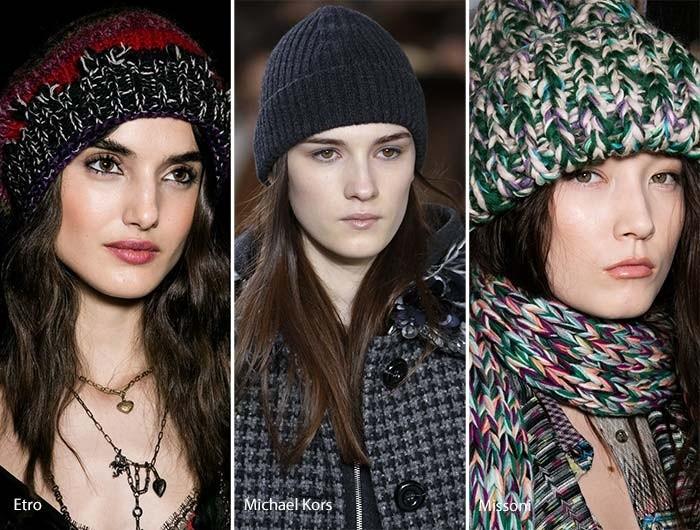 Вязанные модные шапки осень зима