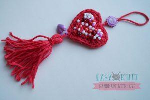 подвеска с сердечком сувенир