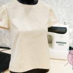 блузка с коротким рукавом из ткани