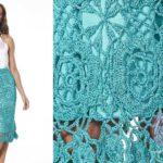 Длинные юбки крючком схемы и описания