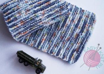 шарф платочной вязкой для мальчика