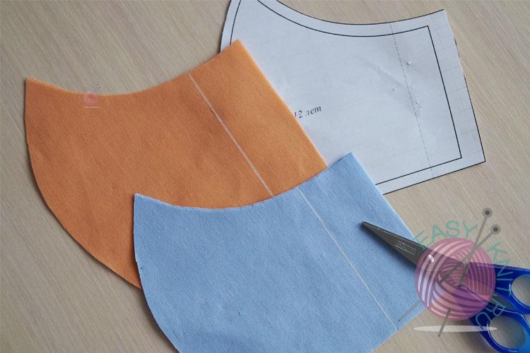 выкроили из ткани детали